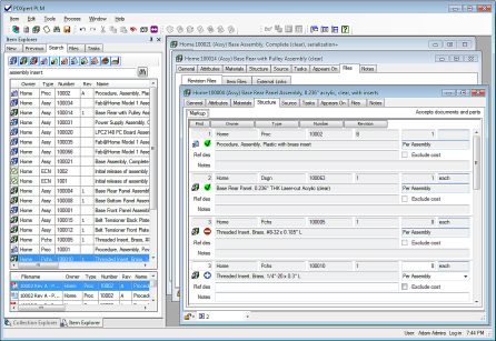 PDXpert PLM software window